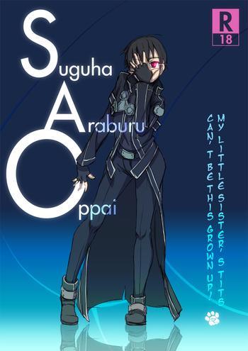 Teitoku hentai Suguha Araburu Oppai- Sword art online hentai Masturbation